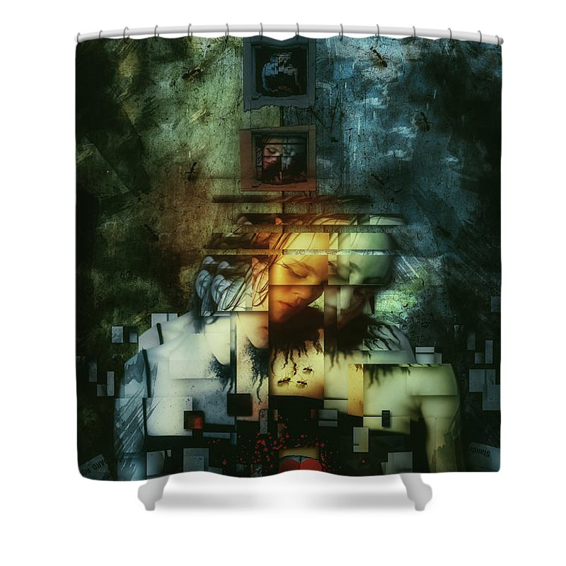 Surreal Shower Curtain featuring the digital art Divided by Mario Sanchez Nevado