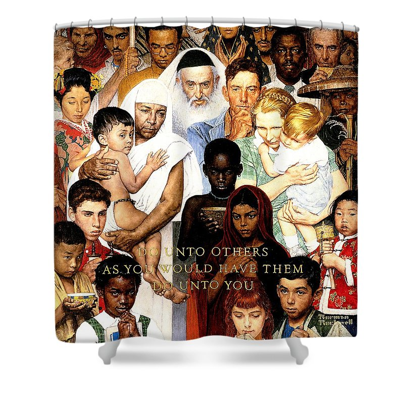 Norman Rockwell Shower Curtains