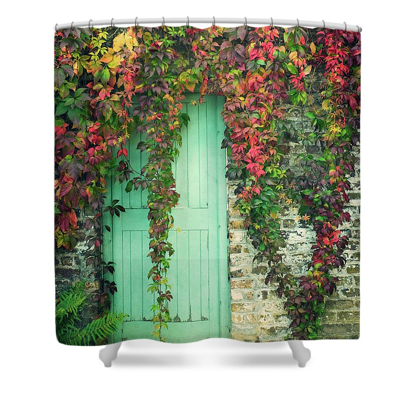Tranquility Shower Curtain featuring the photograph Door To The Secret Garden by Image By Catherine Macbride
