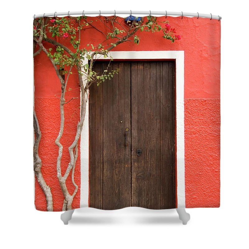 Built Structure Shower Curtain featuring the photograph Doorway by Livingimages