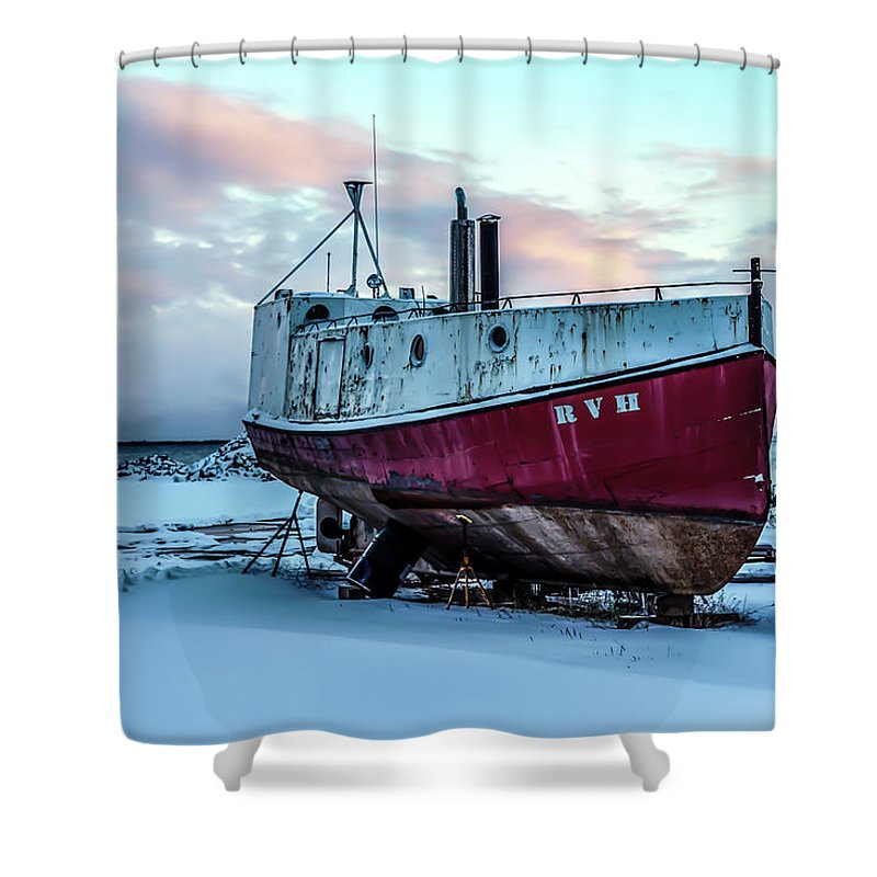 Rvh Shower Curtain featuring the photograph 017 - Dry Dock by David Ralph Johnson