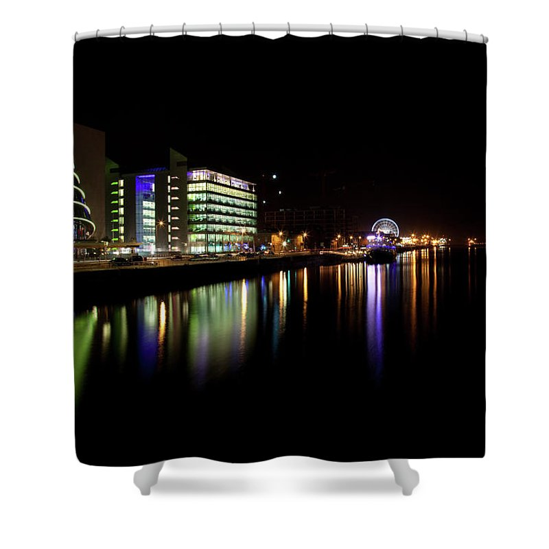 Dublin Shower Curtain featuring the photograph Dublin City Along Quays by Image By Daniel King