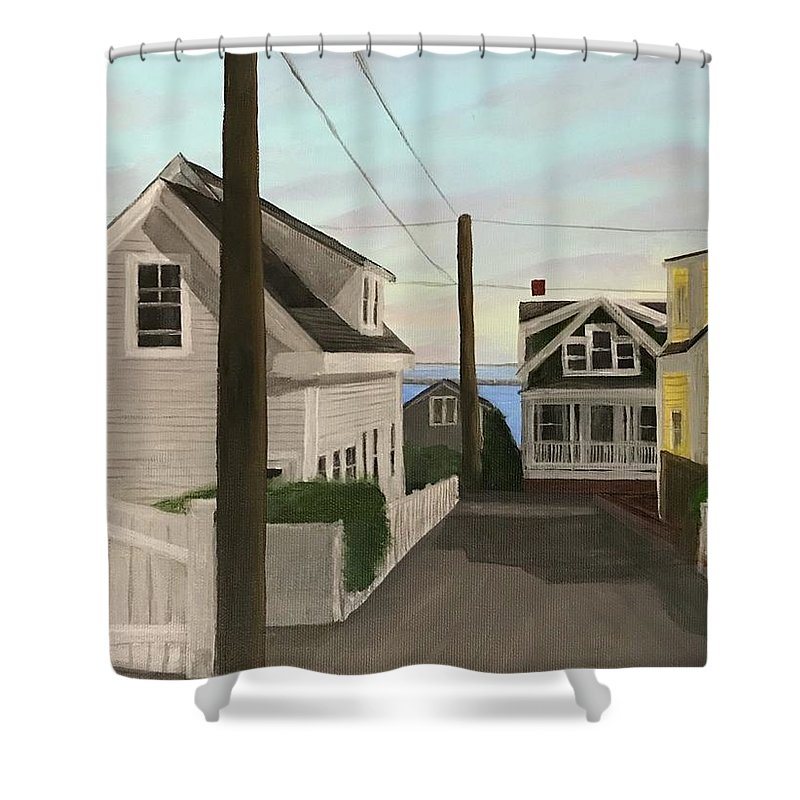 Provincetown Shower Curtain featuring the painting Dyer Street by Derek Macara