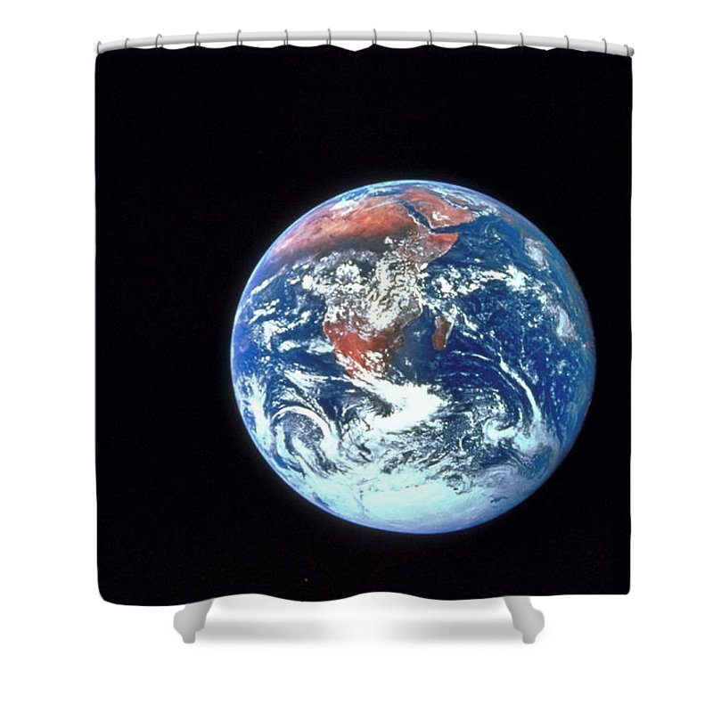 Globe Shower Curtain featuring the photograph Earth From Outer Space by Ablestock.com