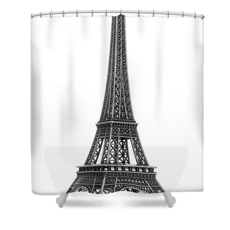 Architectural Model Shower Curtain featuring the photograph Eiffel Tower by Jamesmcq24