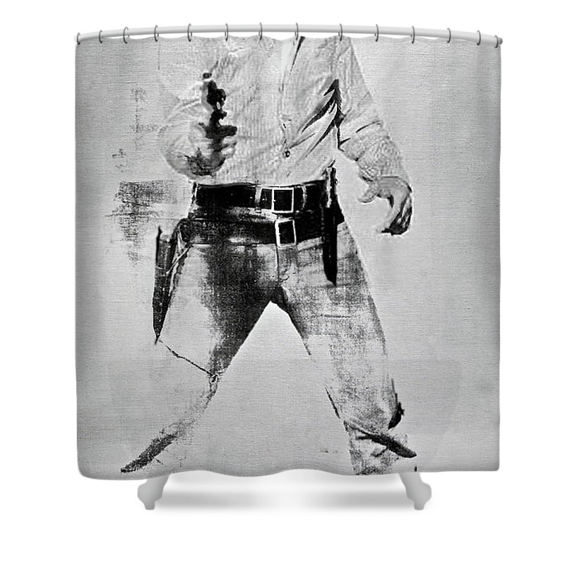 Elvis Presley Andy Warhol Silk Screen On Canvas Shower Curtain For Sale By Thomas Pollart