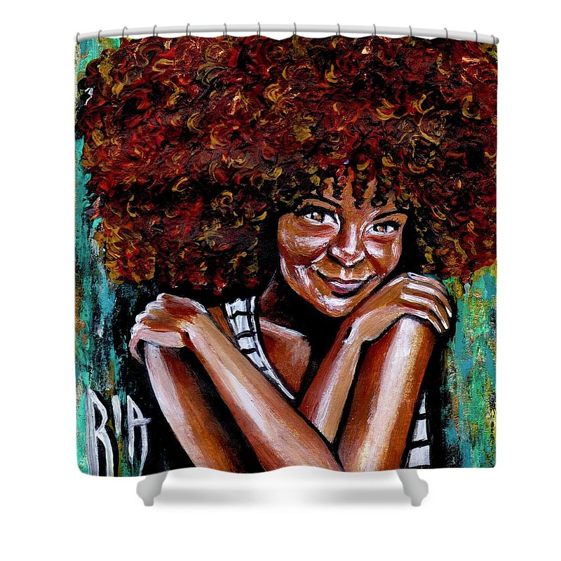 Love Shower Curtain featuring the painting Embraced by Artist RiA