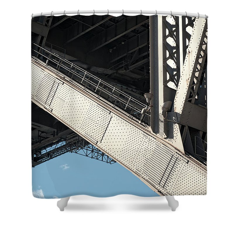 Toughness Shower Curtain featuring the photograph Engineered For Strength by Georgeclerk