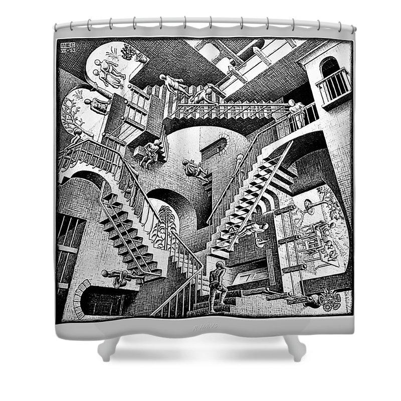 Maurits Cornelis Escher Shower Curtain featuring the photograph Escher 131 by Rob Hans