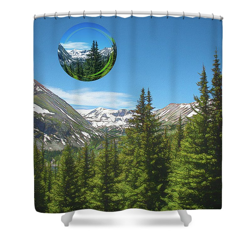 Mountains Shower Curtain featuring the photograph Eye On Summit County by Mike Braun