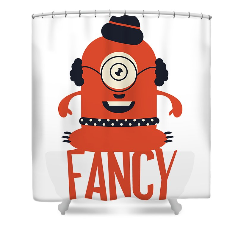 Cartoon Shower Curtain featuring the digital art Fancy Monster by Passion Loft