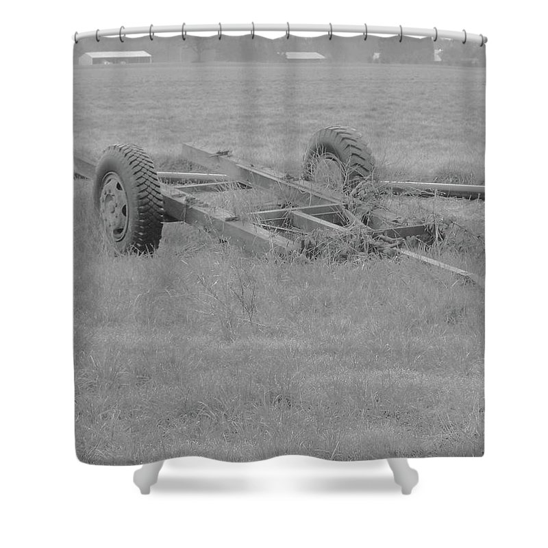 Shower Curtain featuring the photograph Farm Equipment by James Harris