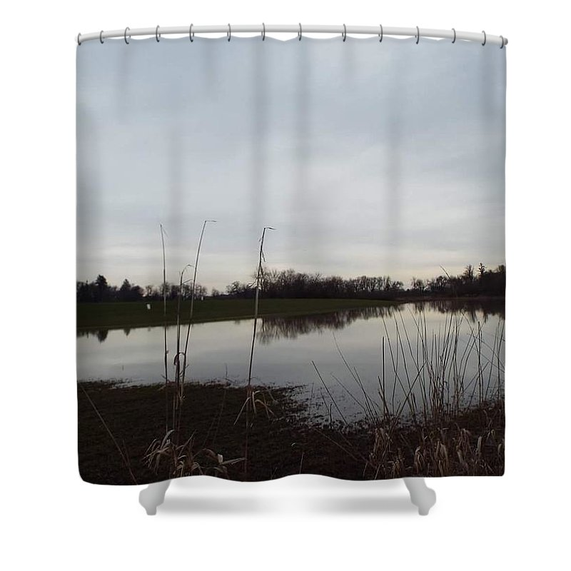 Shower Curtain featuring the photograph Farm Pond by James Harris