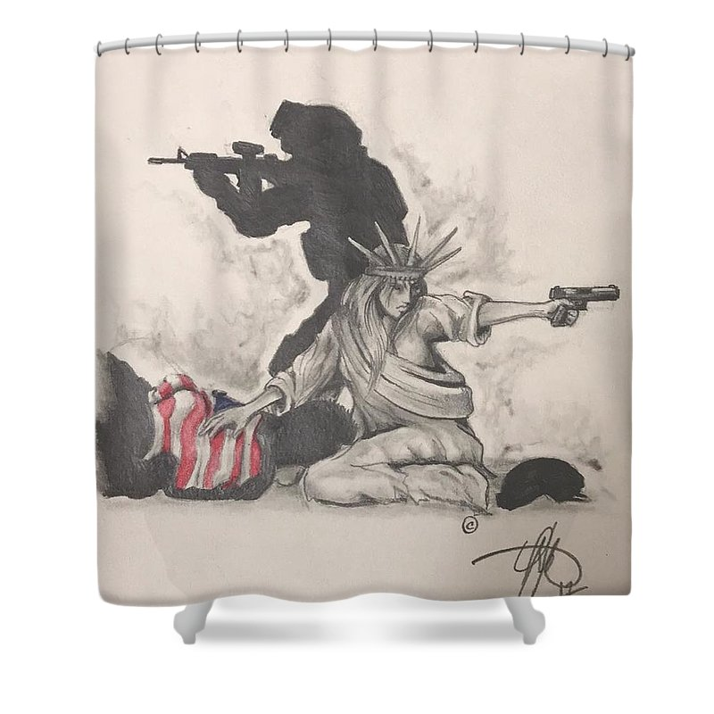 Usmc Shower Curtains