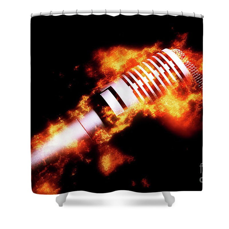 Hot Shower Curtain featuring the photograph Fire It Up by Jorgo Photography - Wall Art Gallery