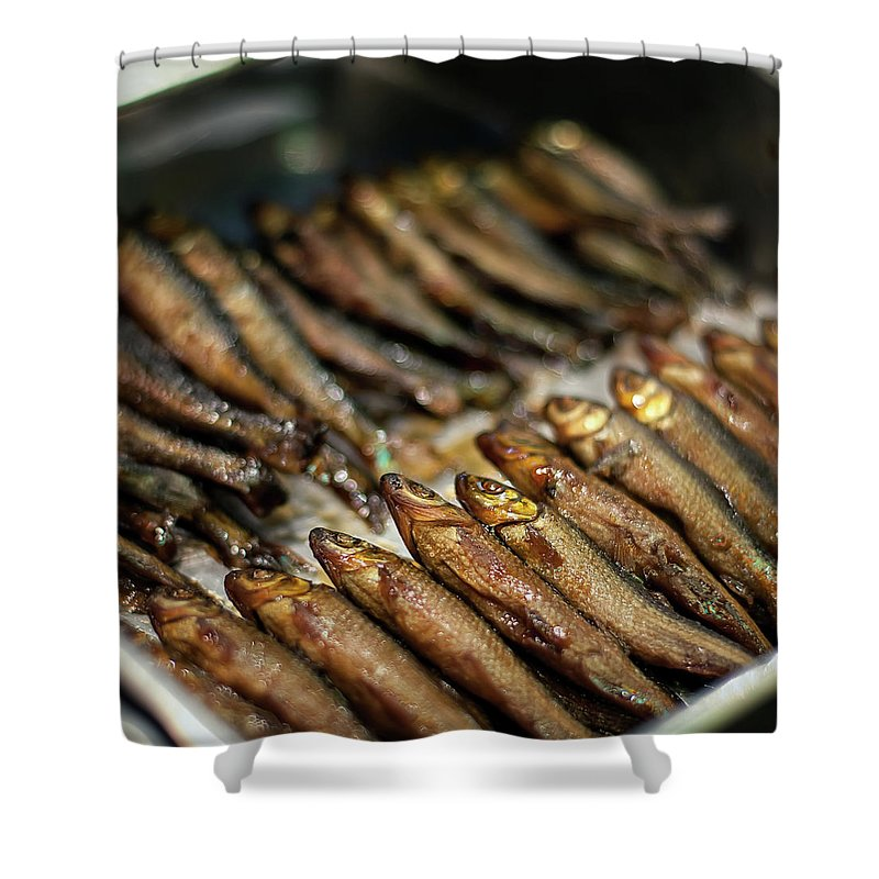 Retail Shower Curtain featuring the photograph Fish by David Panevin Photography