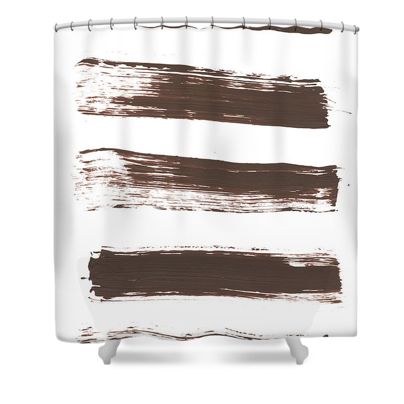 Textured Shower Curtain featuring the photograph Five Tan Streaks Of Paint by Kevinruss