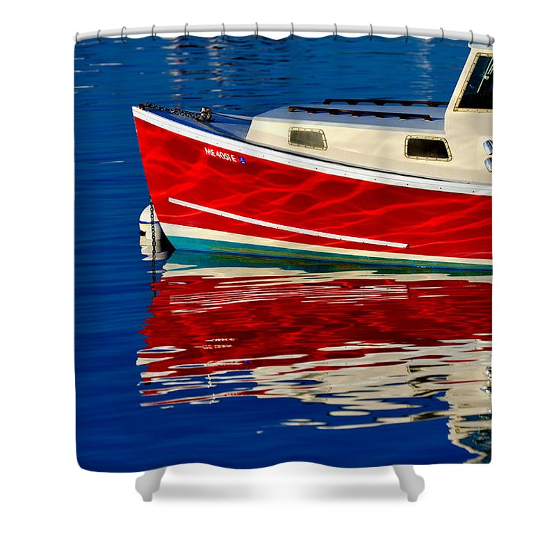 Boat Shower Curtain featuring the photograph Flame Job by Tom Gresham