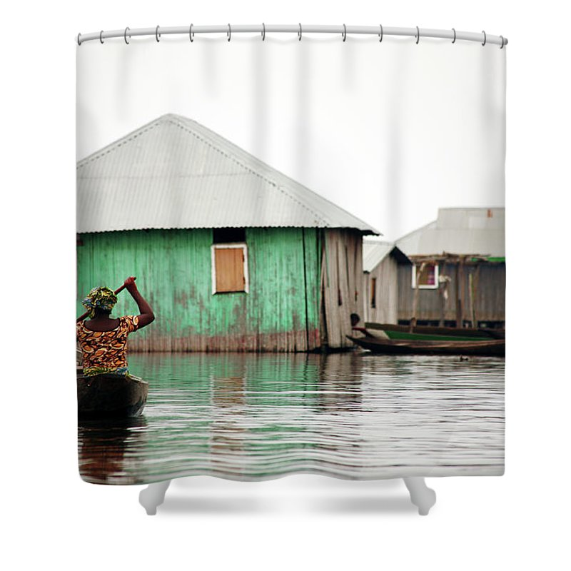 People Shower Curtain featuring the photograph Flood by Peeterv