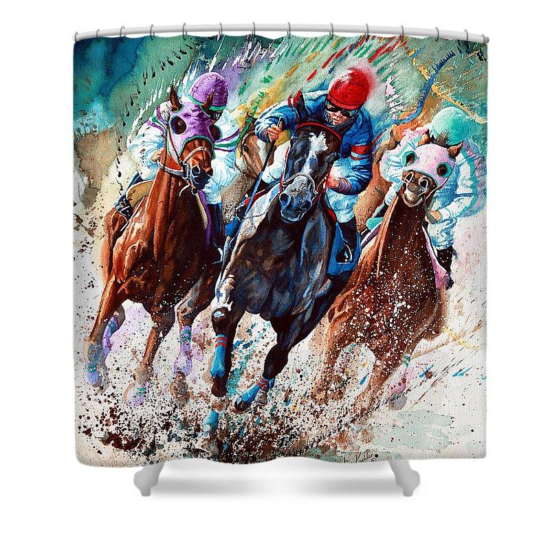 Horse Race Shower Curtains