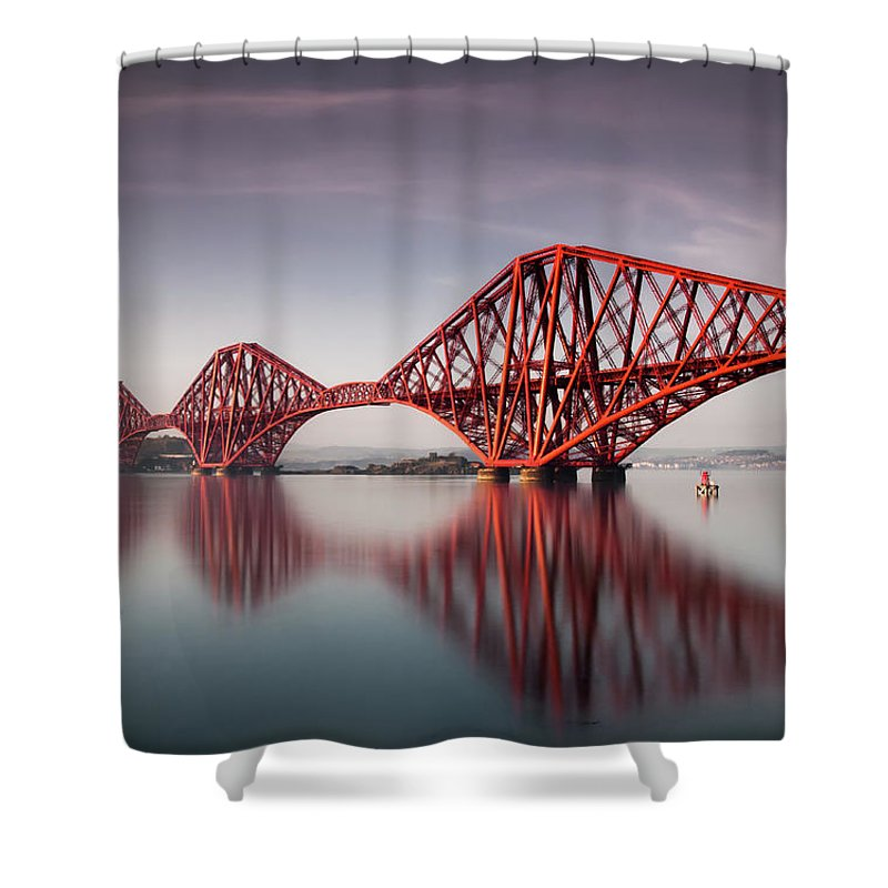 Built Structure Shower Curtain featuring the photograph Forth Rail Bridge by Jon Wild