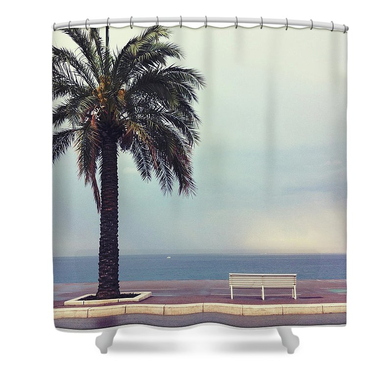 Tranquility Shower Curtain featuring the photograph French Riviera by Ixefra