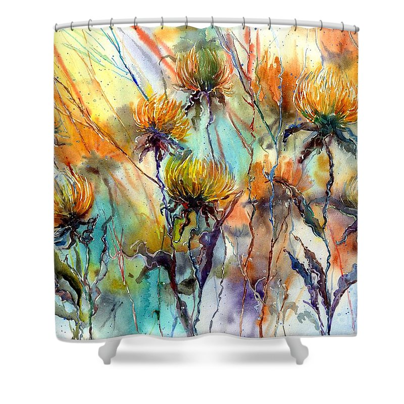 Frozen Chrysanthemums Shower Curtain For Sale By Suzanns Art