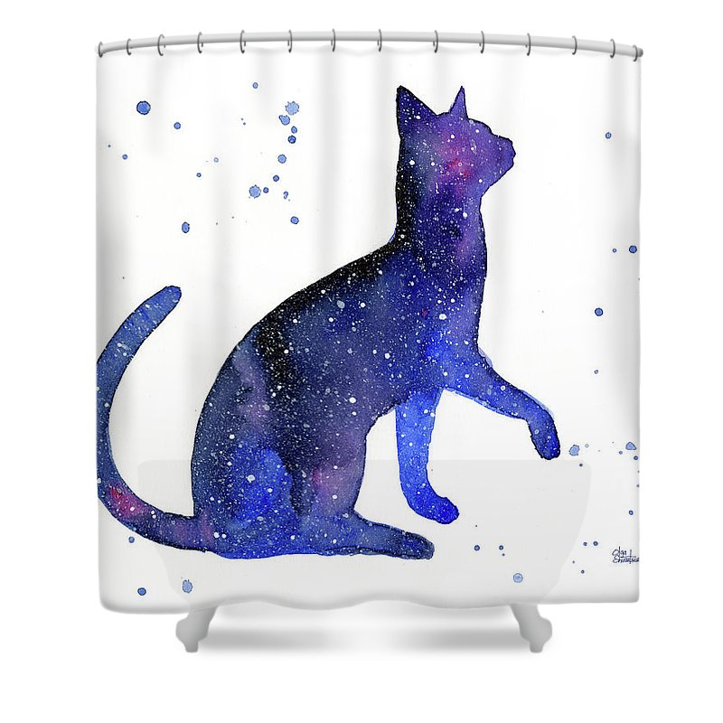 Galaxy Cat Shower Curtain For Sale By Olga Shvartsur