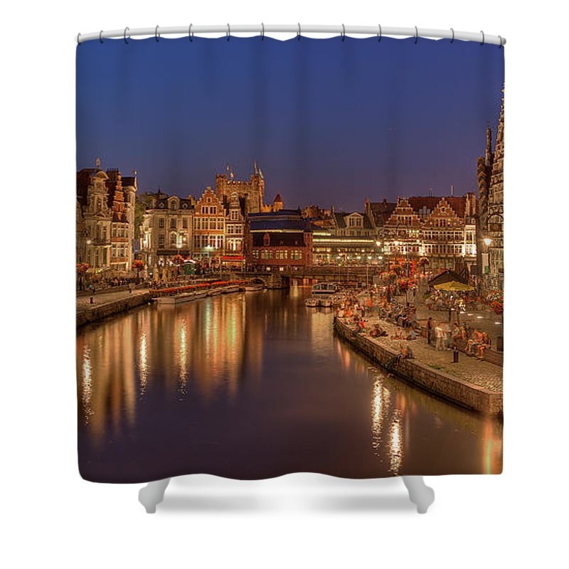 Tranquility Shower Curtain featuring the photograph Gent - 03101119 by Klaus Kehrls