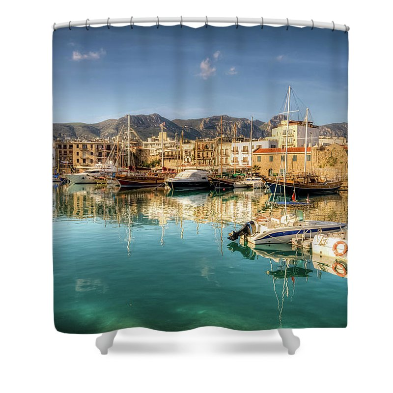Tranquility Shower Curtain featuring the photograph Girne Kyrenia , North Cyprus by Nejdetduzen