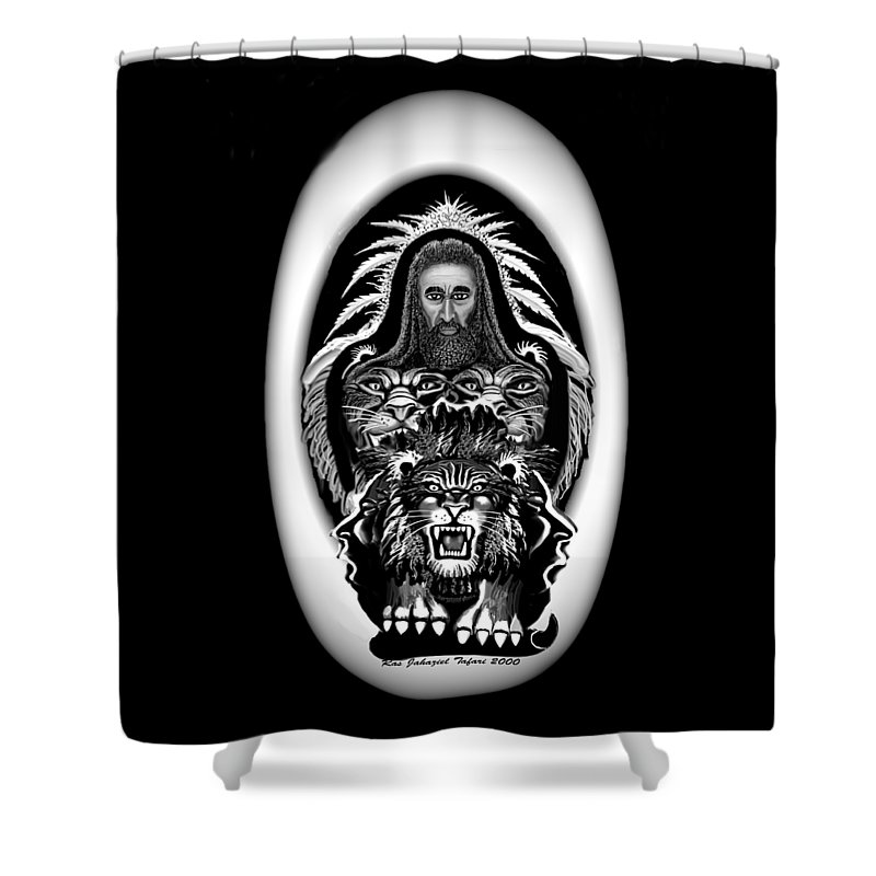 Pastel Chalk Shower Curtain featuring the drawing Give Us The Truth 2 by Ras Tafari