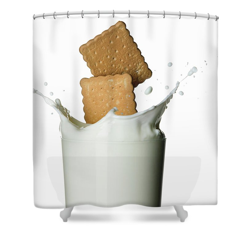 Milk Shower Curtain featuring the photograph Glass Of Milk by Buena Vista Images