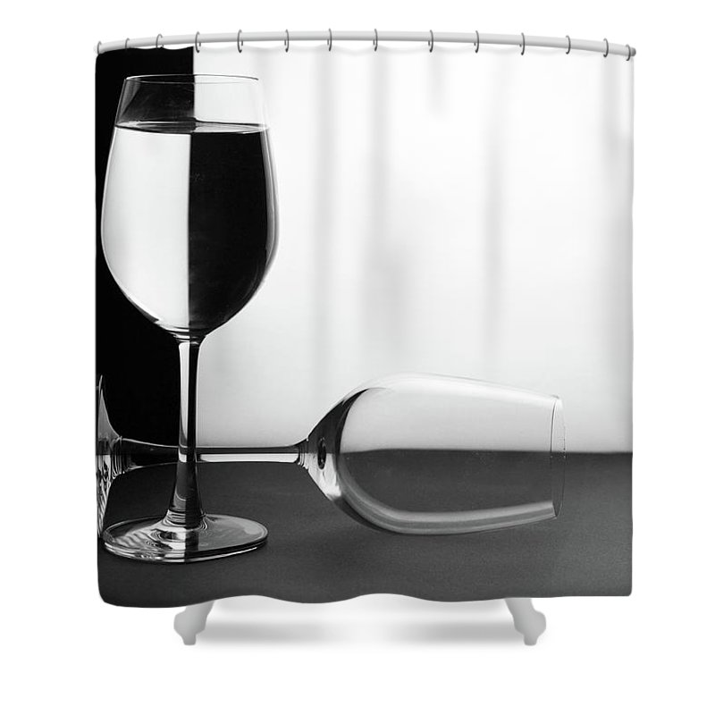 Alcohol Shower Curtain featuring the photograph Glasses by Photo By Bhaskar Dutta