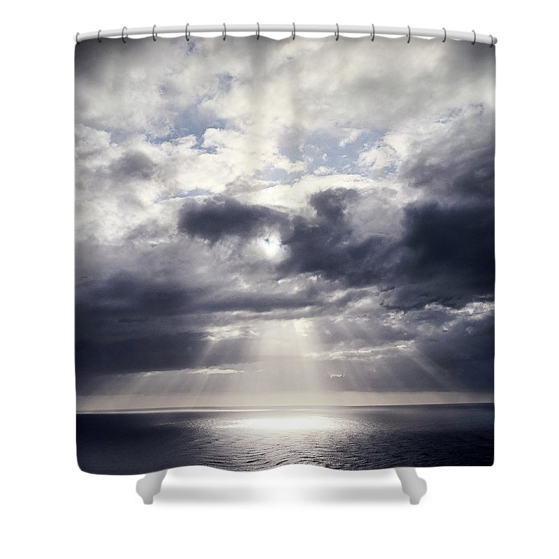 Scenics Shower Curtain featuring the photograph Gods Above Us by Ioseph