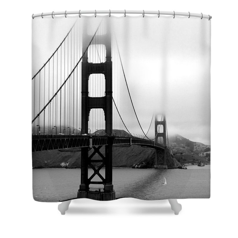 San Francisco Shower Curtain featuring the photograph Golden Gate Bridge by Federica Gentile