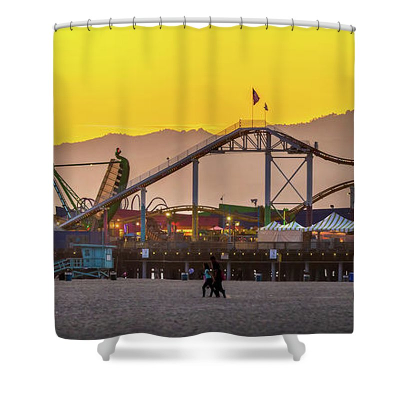 Los Angeles Shower Curtain featuring the photograph Golden Moments by Az Jackson