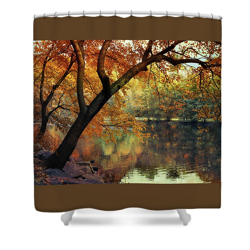 Autumn Shower Curtain featuring the photograph Golden Slumber by Jessica Jenney