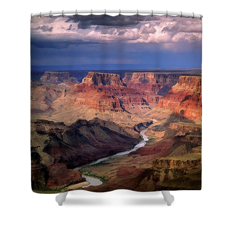 Scenics Shower Curtain featuring the photograph Grand Canyon, Arizon, Usa by Michael Busselle