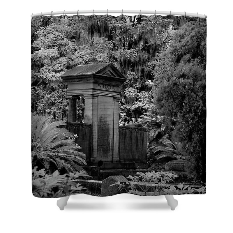 Cemetary Shower Curtain featuring the photograph Grave In Georgia II by Jon Glaser