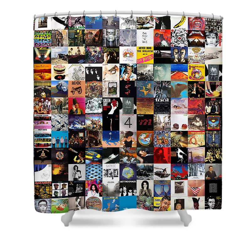 Rock N Roll The Beatles Shower Curtains