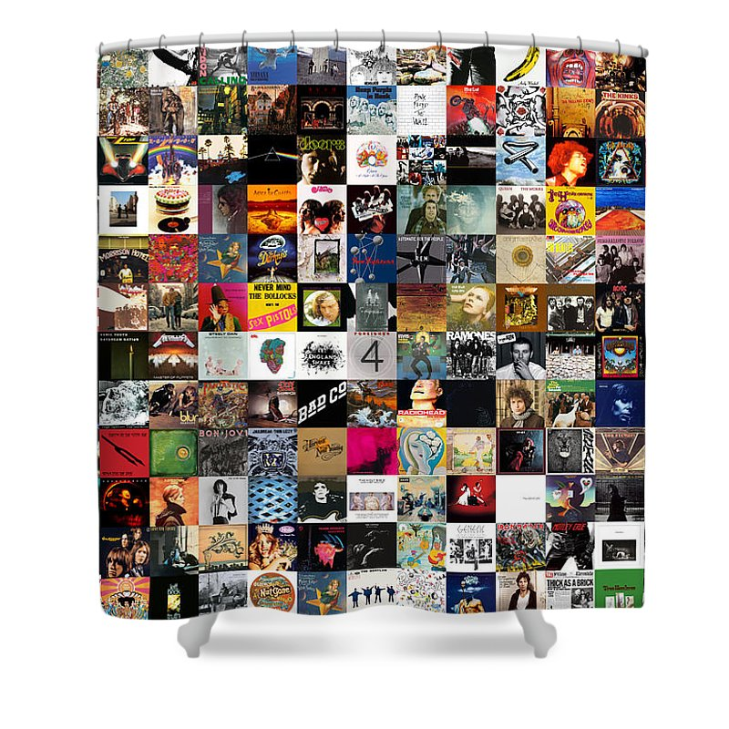 Album Covers Shower Curtain featuring the digital art Greatest Rock Albums Of All Time by Zapista Zapista