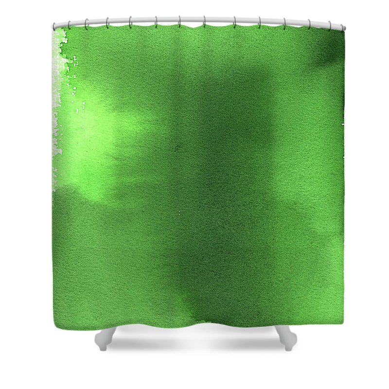 Watercolor Painting Shower Curtain featuring the digital art Green Background Watercolor Painting by Taice