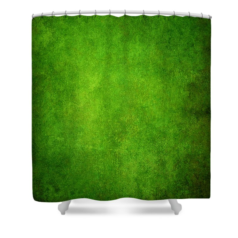 Stained Shower Curtain featuring the photograph Green Grunge Background by Mammuth