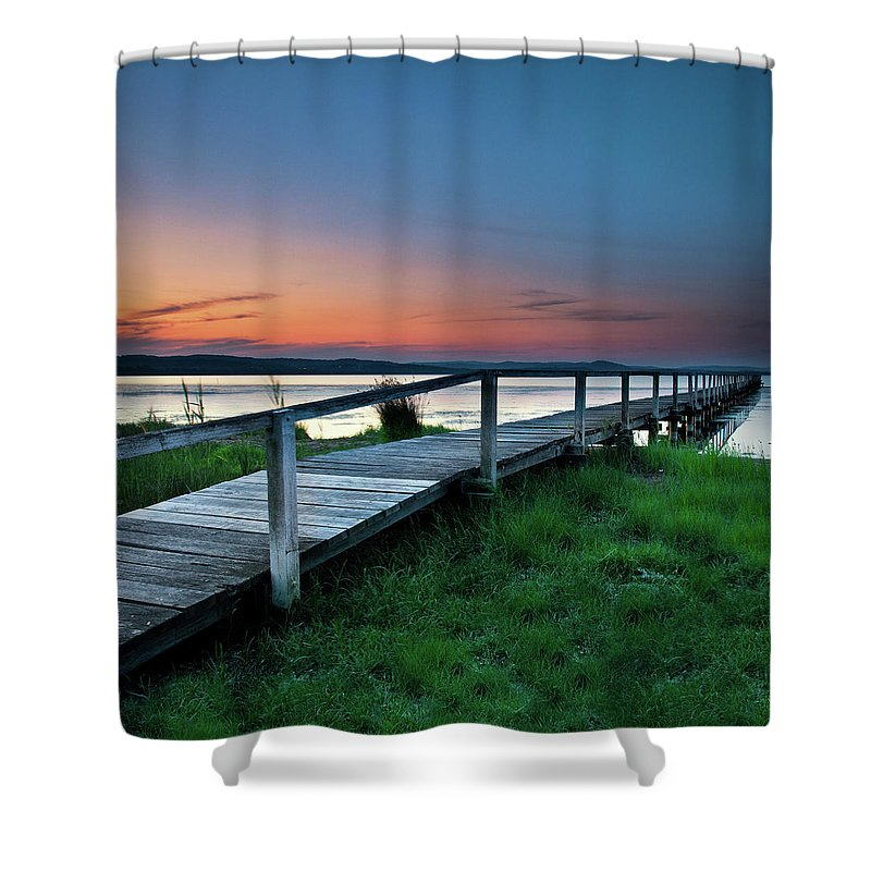 Tranquility Shower Curtain featuring the photograph Greener On The Other Side by Photography By Carlo Olegario