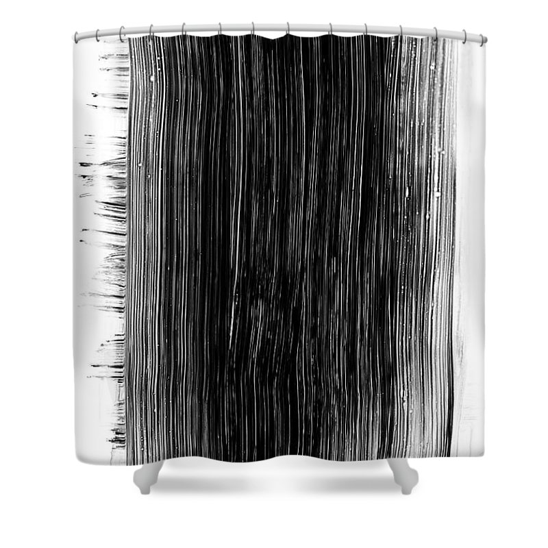 Art Shower Curtain featuring the photograph Grunge Black Paint Brush Stroke by 77studio