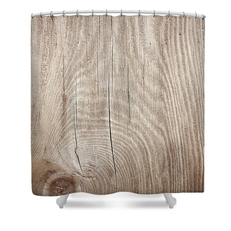 Material Shower Curtain featuring the photograph Grunge Wood Textured Background With by Hudiemm
