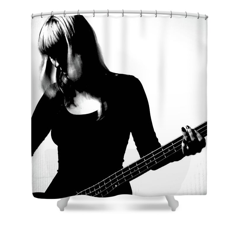 People Shower Curtain featuring the photograph Guitar Player by Yulia.m
