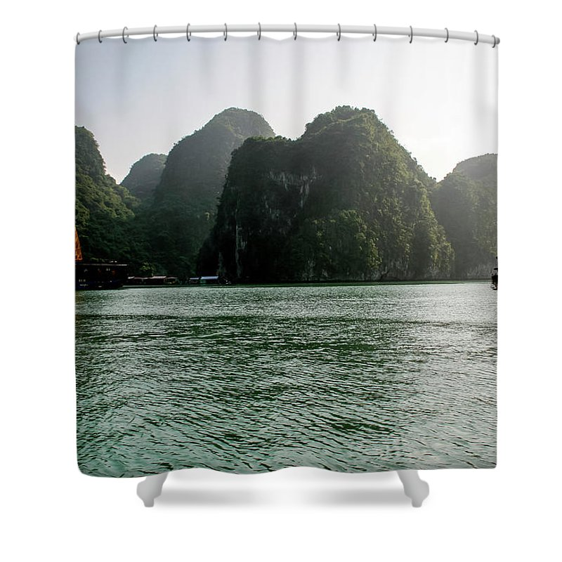 Scenics Shower Curtain featuring the photograph Halong Bay by Rafax