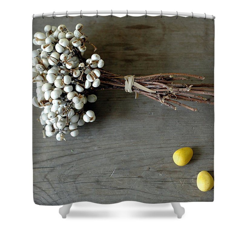 Easter Shower Curtain featuring the photograph Happy Easter by Jennifer Causey