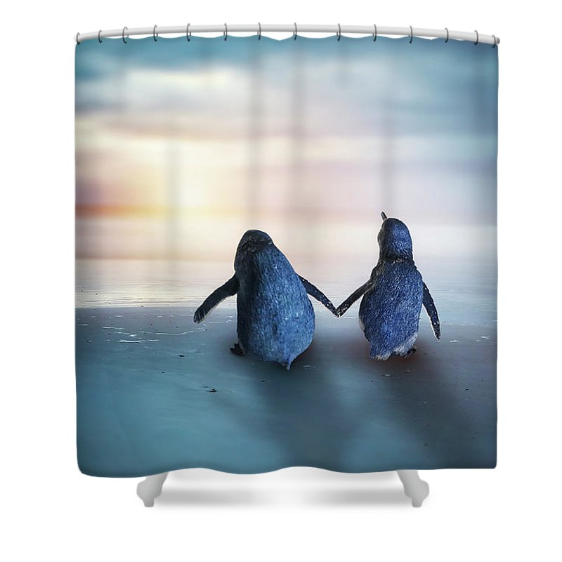 Kremsdorf Shower Curtain featuring the photograph Happy Feet by Evelina Kremsdorf